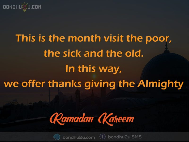 This is the month visit for poor